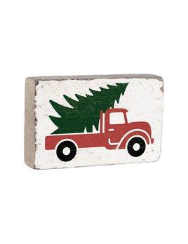 Rustic Marlin Christmas Tree Truck XL Block