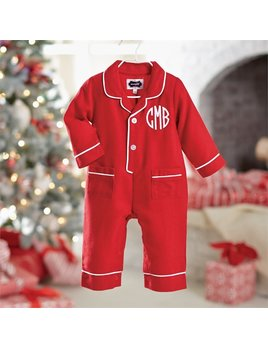 Red Flannel Pajama One-Piece