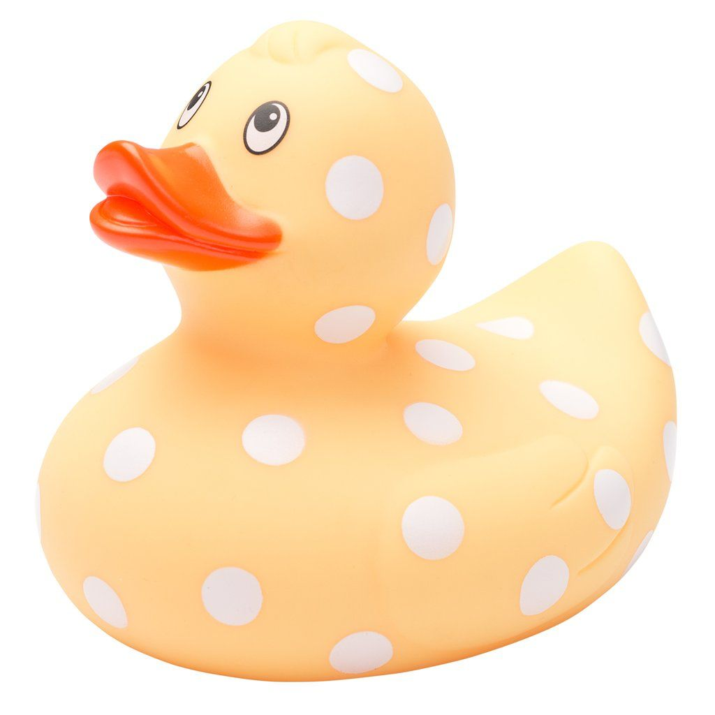 TOY Yellow Polka Dot Bath Duck
