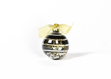 ORNAMENT Happy Everything Black Stripe Ornament