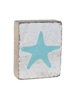 White Tumbling Block, Seaglass Starfish