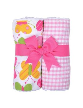 BURP PADS Butterfly Set of Two Burp Cloths