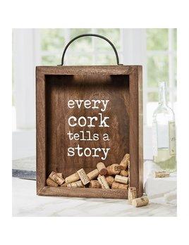 WINE ACCESSORY Every Cork Tells a Story Display Box