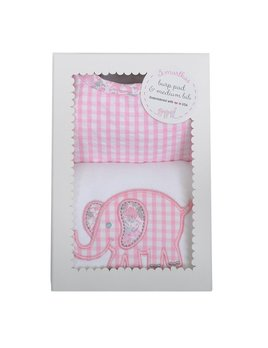 BIB Pink Elephant Bib & Burp Box Set