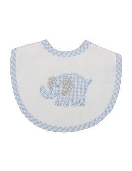 BIB Blue Elephant Medium Bib