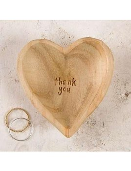 TRINKET TRAY Thank You Wooden Heart Dish