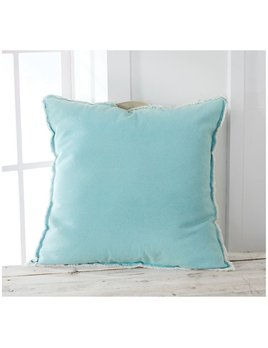PILLOW Aqua Washed Canvas Pillow