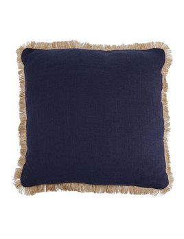 PILLOW Navy Jute Pillow