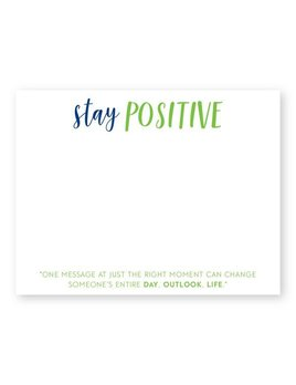 NOTE CARDS Stay Positive Flat Notecards