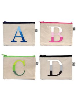 COSMETIC BAG Ombre Initial Bittie Bag