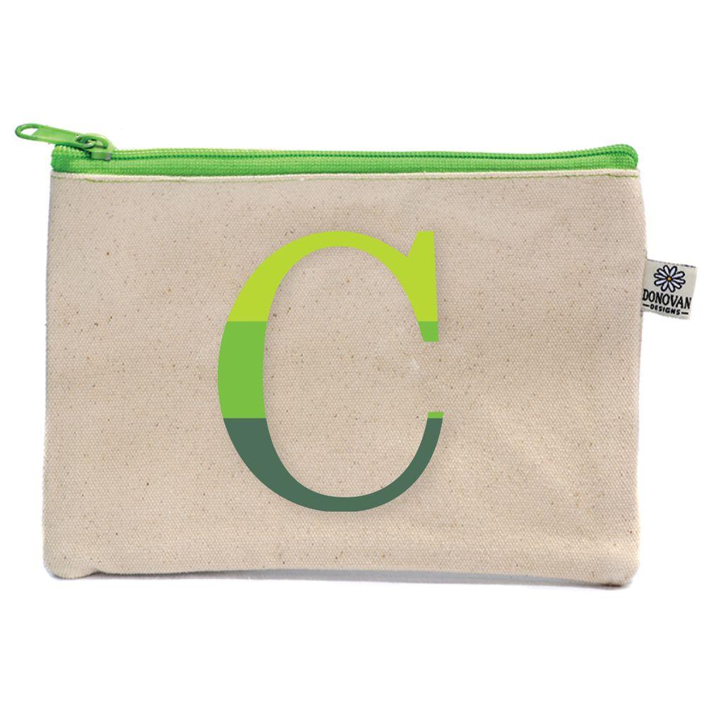 COSMETIC BAG Ombre Initial Bittie Bag