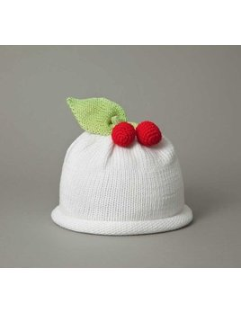 HAT White Cherry Knit Hat