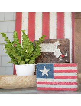 AMERICAN FLAG STAR XL BLOCK