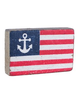 American Flag with Anchor XL Block