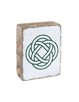 White Tumbling Block, Hunter Celtic Knot