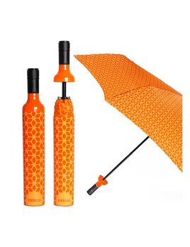 UMBRELLA Wine Bottle Umbrella - Botanical Orange