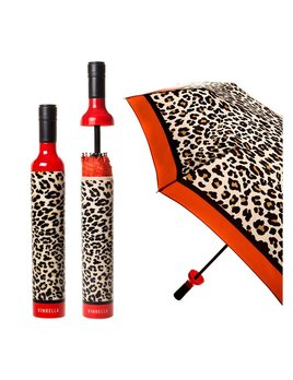 UMBRELLA Wine Bottle Umbrella - Leopard