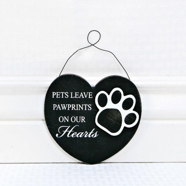 ORNAMENT Pets Leave Pawprints Wooden Ornament