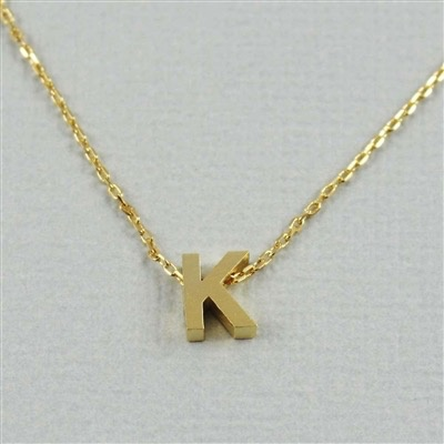 NECKLACE Block Letter Initial Necklace