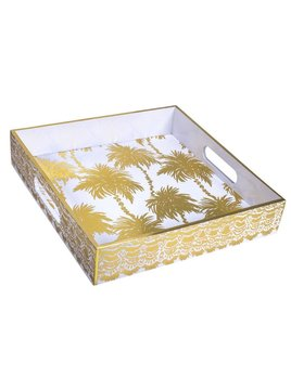 TRAY Lilly Pulitzer Lacquer Tray, Metallic Palms