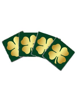 COASTERS Gold Clover Coasters - Set of 4