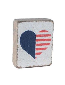 White Tumbling Block, American Heart