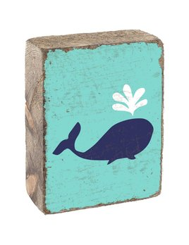 RUSTIC BLOCK - BLUEBERRY WHALE