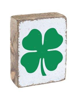 White Tumbling Block, Green Clover