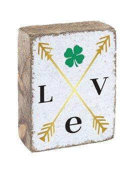 White Tumbling Block, Love Clover