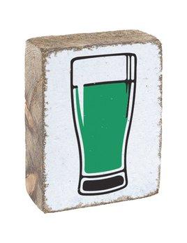 White Tumbling Block, Green Beer