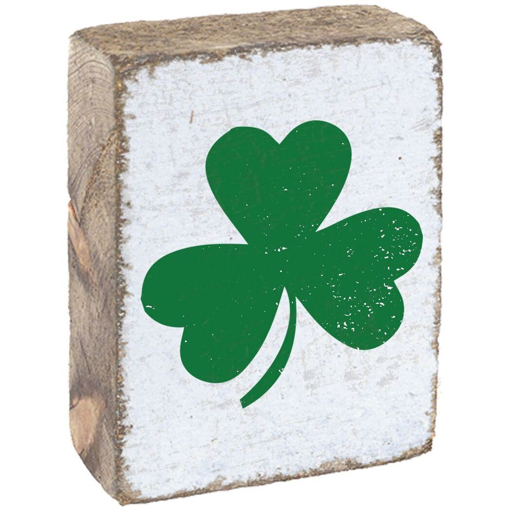 White Tumbling Block, Green Shamrock