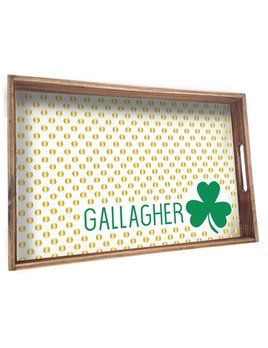 TRAY Personalized Shamrock Wooden Tray