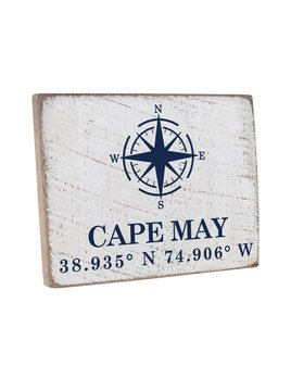 Rustic Marlin Vintage Plank Personalized Compass Coordinates