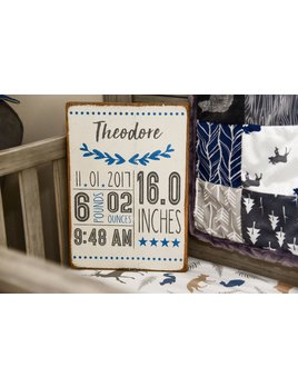 Sign Personalized Laurels Birth Announcement