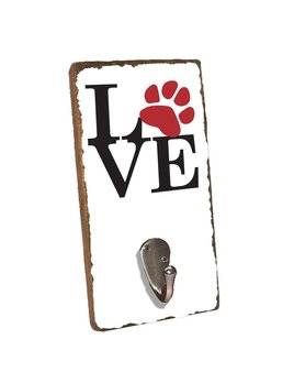 Stacked Love Paw Print Wall Hook