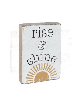 Rustic Block XL - Rise & Shine