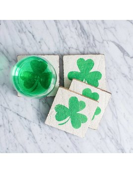 COASTERS Shamrock Coasters - Set of 4