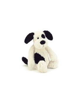 TOY Bashful Black and Cream Puppy - Small