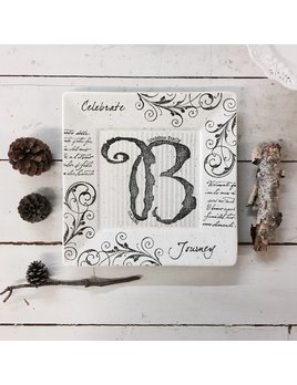 PLATTER Monogram Wedding Plate