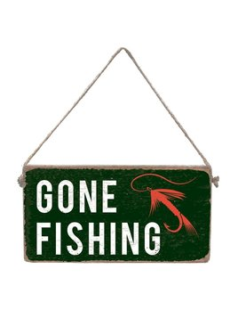 Sign Gone Fishing - Mini Plank