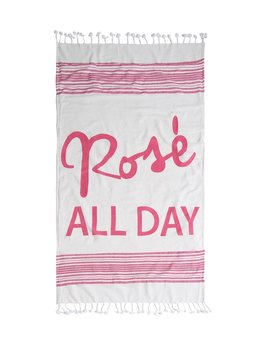 Towel Rose All Day Beach Blanket with Tote, Pink