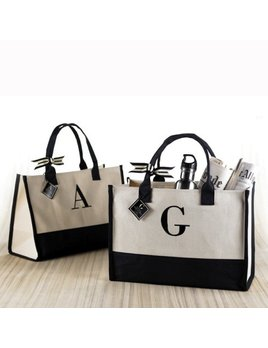 Tote Initial Canvas Tote