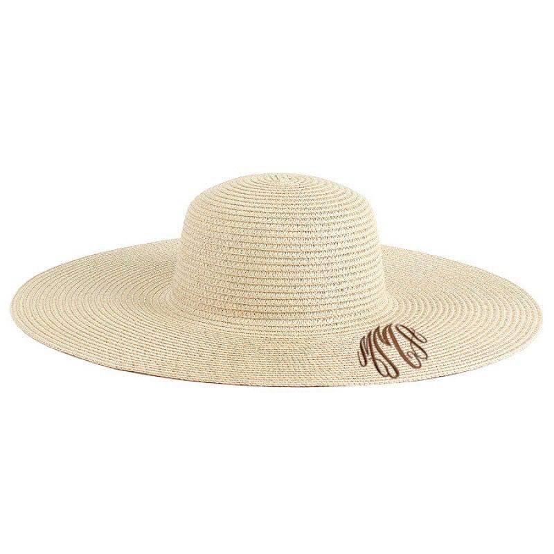 fd85ca57fda31 Monnogrammed Floppy Sun Hat - Jeannine s Boutique