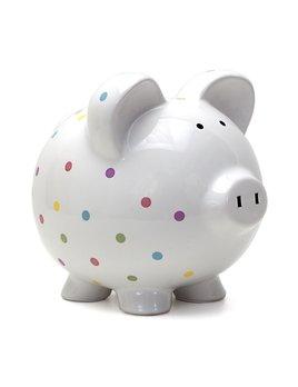 Personalized Confetti Piggy Bank