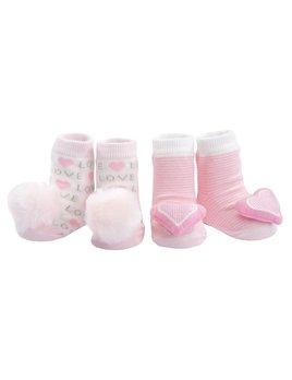 Rattle Love Pink Socks - Set of 2