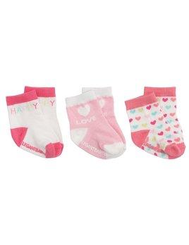 Happy Pink Socks - Set of 3
