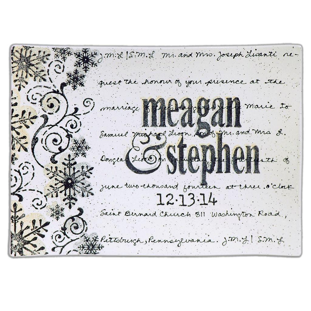 PLATTER Wedding Invitation Flare Platter