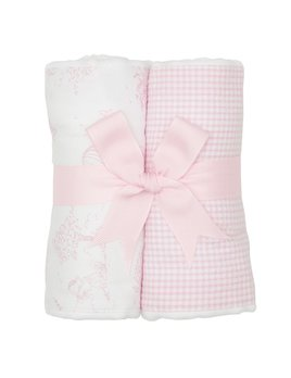BURP CLOTH Pink Kite Set of Two Burp Cloths