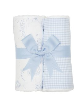 BURP CLOTH Blue Kite Set of Two Burp Cloths