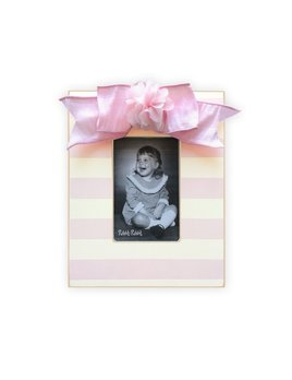 FRAME Flower Stripe Frame - Rose Pink Bow